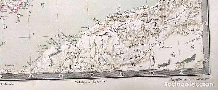 Arte: 1862 - Original - Mapa de España Spanien und Portugal - Bromme, Traugott - Politico - Foto 4 - 182999913