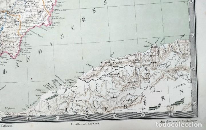 Arte: 1862 - Original - Mapa de España Spanien und Portugal - Bromme, Traugott - Politico - Foto 5 - 182999913