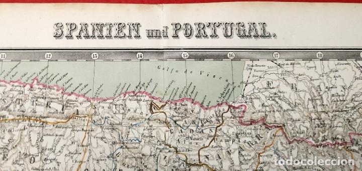 Arte: 1862 - Original - Mapa de España Spanien und Portugal - Bromme, Traugott - Politico - Foto 6 - 182999913