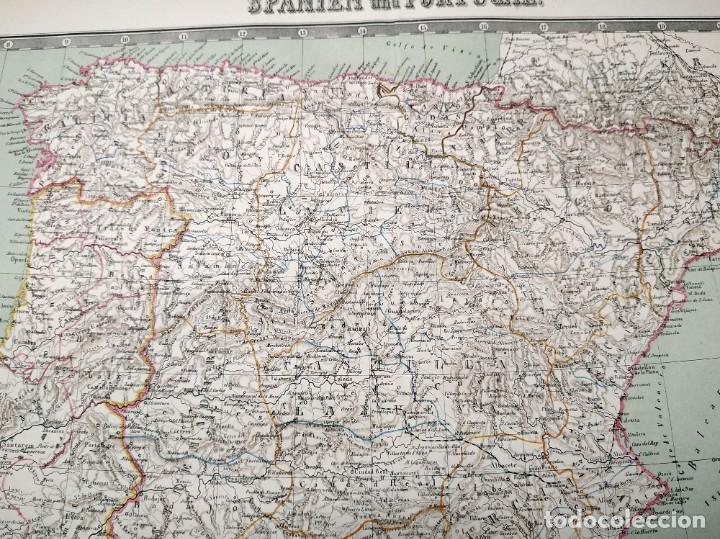 Arte: 1862 - Original - Mapa de España Spanien und Portugal - Bromme, Traugott - Politico - Foto 10 - 182999913