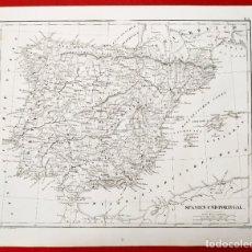 Arte: 1849 - ORIGINAL - MAPA DE ESPAÑA SPANIEN UND PORTUGAL - J.L.V. BAEHR. Lote 183000988
