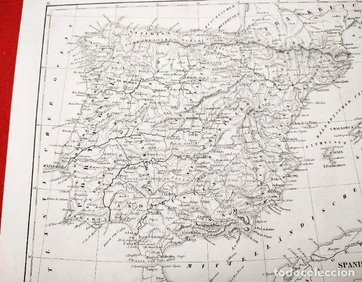 Arte: 1849 - Original - Mapa de España Spanien und Portugal - J.L.V. Baehr - Foto 5 - 183000988
