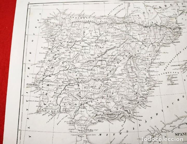 Arte: 1849 - Original - Mapa de España Spanien und Portugal - J.L.V. Baehr - Foto 7 - 183000988