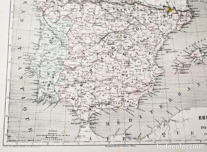 Arte: 1855 - Original - Mapa de España Espagne et Portugal - A.H. Dufour - Gustave Barba - Paris - Foto 7 - 183006290