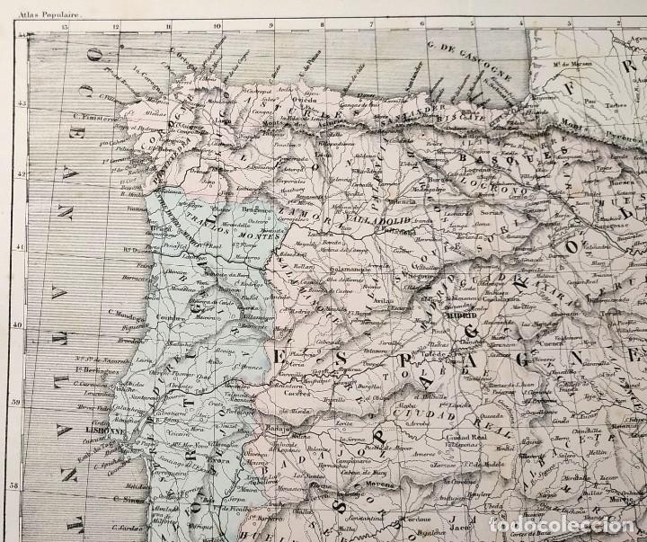 Arte: 1855 - Original - Mapa de España Espagne et Portugal - A.H. Dufour - Gustave Barba - Paris - Foto 11 - 183006290