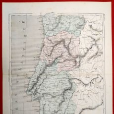 Arte: 1855 - ORIGINAL - MAPA DE PORTUGAL - GUSTAVE BARBA PARIS - A. H. DUFOUR. Lote 183009901