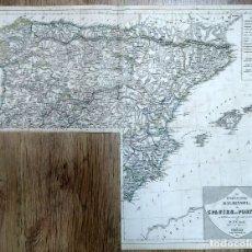 Arte: 1837 - ORIGINAL - MAPA ESPAÑA Y PORTUGAL - SPANIEN - DR. F. W. STREIT- BERLIN. Lote 183012436