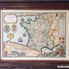 Arte: MAPA DEL CAMINO FRANCES DE SANTIAGO DE COMPOSTELA - AÑO 1648(REPRODUCCIÓN) . Lote 183191078