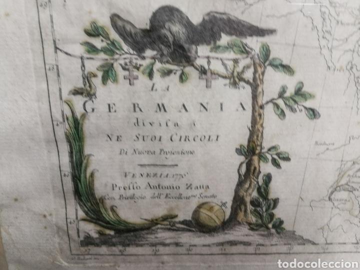 Arte: ANTIGUA CARTOGRAFIA MAPA AÑO 1776,GERMANIA, ALEMANIA. - Foto 2 - 183718791