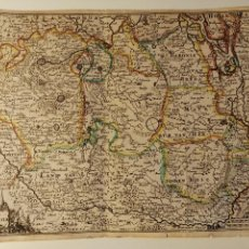Art: DUCATUS BRABANTIAE PER I. PEETERS. CA. 1696. MAPA DEL SUR DE LOS PAISES BAJOS. 19X15 CM. Lote 183783720