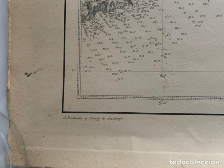 Arte: CARTA NAUTICA CABO DE TOSSA A CABO CERBERA S. XIX - Foto 7 - 183797748