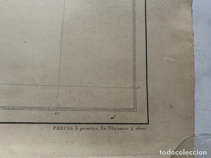 Arte: CARTA NAUTICA CABO DE TOSSA A CABO CERBERA S. XIX - Foto 9 - 183797748
