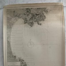Arte: CARTA NAUTICA GOLFO DE ROSAS GERONA 1894 S. XIX. Lote 183809253