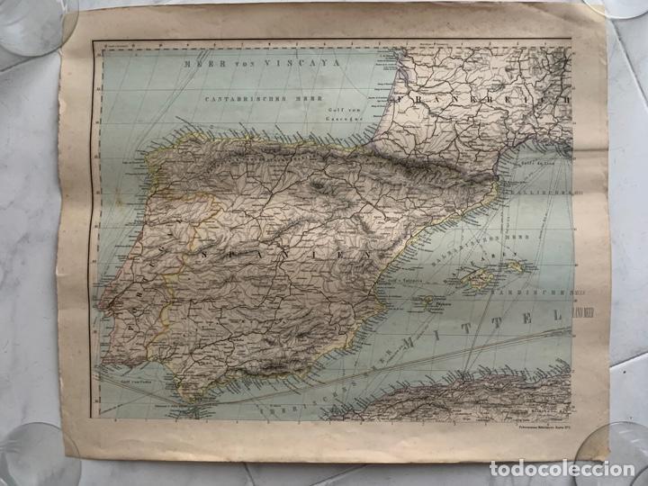 CARTA NAUTICA ESPAÑA SPANIEN PETERMANNS MITTELMEER KARTE 1 S. XIX (Arte - Cartografía Antigua (hasta S. XIX))