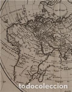 Arte: Mapa del hemisferio oriental del mundo, 1780. R. Bonne - Foto 7 - 184468957