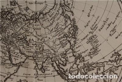 Arte: Mapa del hemisferio oriental del mundo, 1780. R. Bonne - Foto 8 - 184468957