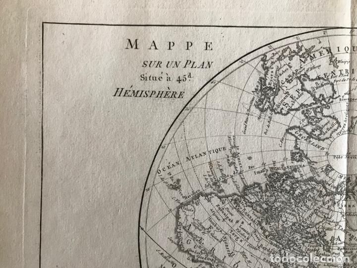 Arte: Mapa del hemisferio oriental del mundo, 1780. R. Bonne - Foto 15 - 184468957