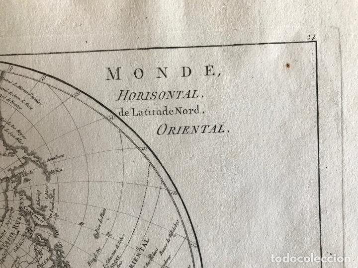 Arte: Mapa del hemisferio oriental del mundo, 1780. R. Bonne - Foto 16 - 184468957