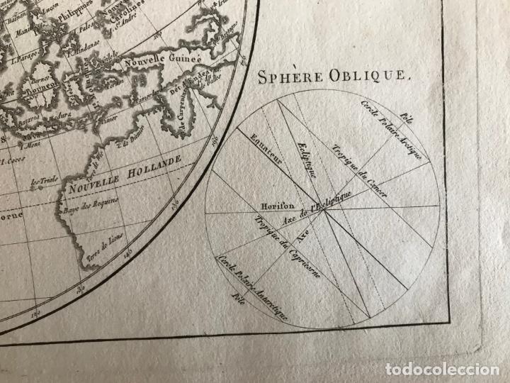 Arte: Mapa del hemisferio oriental del mundo, 1780. R. Bonne - Foto 17 - 184468957