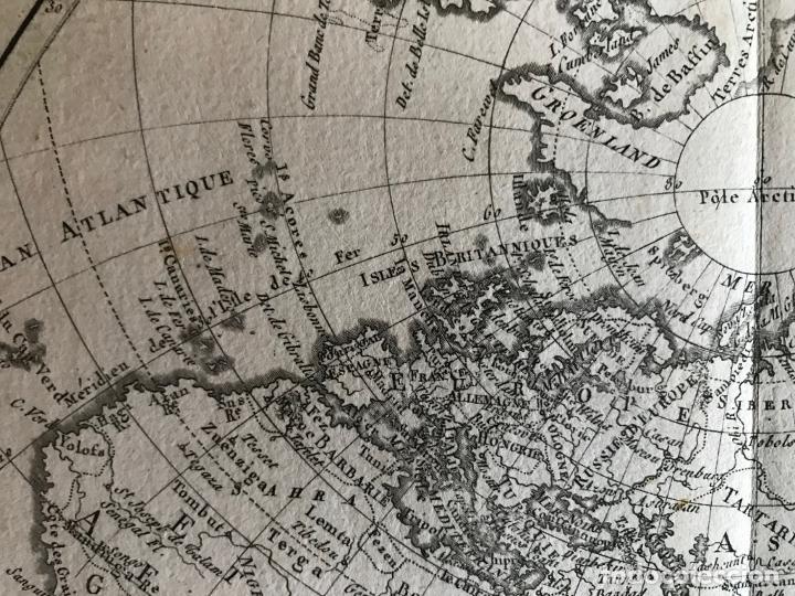 Arte: Mapa del hemisferio oriental del mundo, 1780. R. Bonne - Foto 19 - 184468957