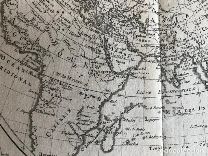 Arte: Mapa del hemisferio oriental del mundo, 1780. R. Bonne - Foto 20 - 184468957