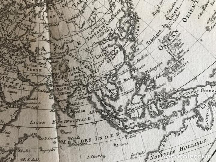 Arte: Mapa del hemisferio oriental del mundo, 1780. R. Bonne - Foto 21 - 184468957
