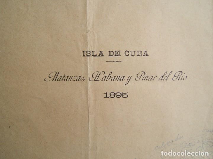ISLA DE CUBA-MATANZAS, LA HABANA-PINAR DEL RIO-ISLA DE PINOS-SANTIAGO, CAYOS...TODA LA ISLA-1895. (Arte - Cartografía Antigua (hasta S. XIX))