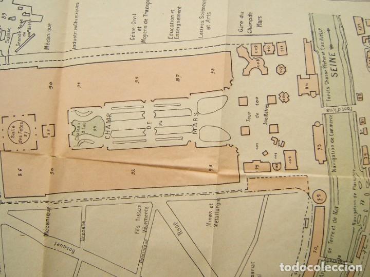 Arte: PLAN GENERAL DE LEXPOSITION-EXPOSICION UNIVERSAL DE PARIS-FRANCIA-TORRE EIFFEL-ORIGINAL AÑO 1889. - Foto 3 - 213051441