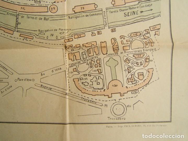 Arte: PLAN GENERAL DE LEXPOSITION-EXPOSICION UNIVERSAL DE PARIS-FRANCIA-TORRE EIFFEL-ORIGINAL AÑO 1889. - Foto 4 - 213051441