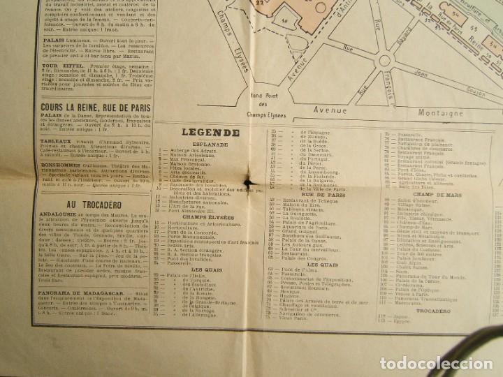 Arte: PLAN GENERAL DE LEXPOSITION-EXPOSICION UNIVERSAL DE PARIS-FRANCIA-TORRE EIFFEL-ORIGINAL AÑO 1889. - Foto 5 - 213051441