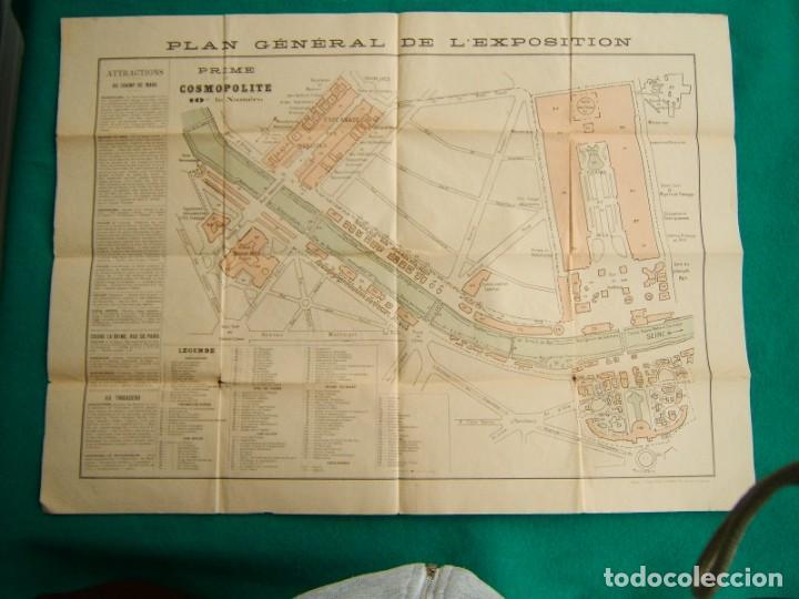 Arte: PLAN GENERAL DE LEXPOSITION-EXPOSICION UNIVERSAL DE PARIS-FRANCIA-TORRE EIFFEL-ORIGINAL AÑO 1889. - Foto 6 - 213051441