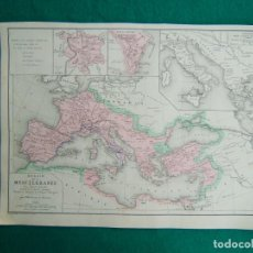 Arte: MAR MEDITERRANEO EN LA HISTORIA ROMANA DESPUES GUERRAS PUNIQUES-AUGUSTO-CARTAGO CARTAGO Y ROMA-1888.. Lote 185674203