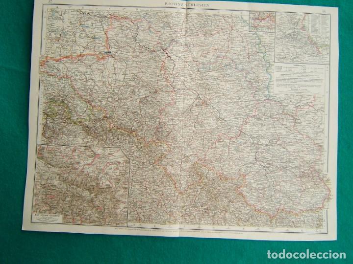 MAPA DE LA PROVINCIA DE SILESIA-ALEMANIA-PROVINZ SCHLESIEN-DAS RIESENGEBIRGE-RUTTEN REVIER-1899. (Arte - Cartografía Antigua (hasta S. XIX))