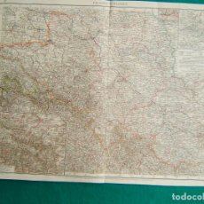Arte: MAPA DE LA PROVINCIA DE SILESIA-ALEMANIA-PROVINZ SCHLESIEN-DAS RIESENGEBIRGE-RUTTEN REVIER-1899.. Lote 286524383