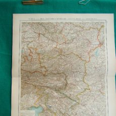 Arte: MAPA DE ALEMANIA-AUSTRIA.NIEDER-OSTERREICH-KRAIN-KUSTENLAND +UN MAPA COMPLETO DE SUIZA-1899. . Lote 185886672
