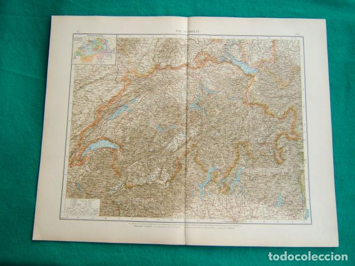 Arte: MAPA DE ALEMANIA-AUSTRIA.NIEDER-OSTERREICH-KRAIN-KUSTENLAND +UN MAPA COMPLETO DE SUIZA-1899. - Foto 2 - 185886672