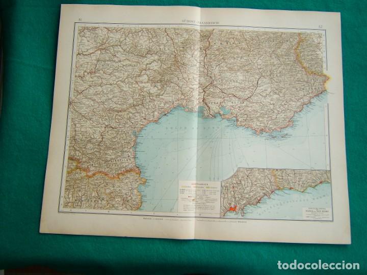 Arte: MAPA INGLATERRA-ESCOCIA-REINO UNIDO-IRLANDA-PLANO LONDRES-DINAMARCA-MAPA FRANCIA-NIZA-CATALUÑA-1899 - Foto 2 - 185887547