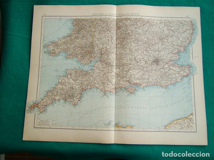 Arte: MAPA SUR REINO UNIDO-INGLATERRA-GALES-MAPA NORTE INGLATERRA-REINO UNIDO-ESCOCIA-ISLA DE MAN-1899. - Foto 2 - 185887736