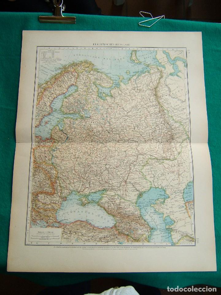RUSIA-UNION SOVIETICA-MAR NEGRO-MOSCU-NORUEGA-SUECIA-FINLANDIA-CASPIO-CRIMEA-BOSFORO-RUMANIA-1899. (Arte - Cartografía Antigua (hasta S. XIX))