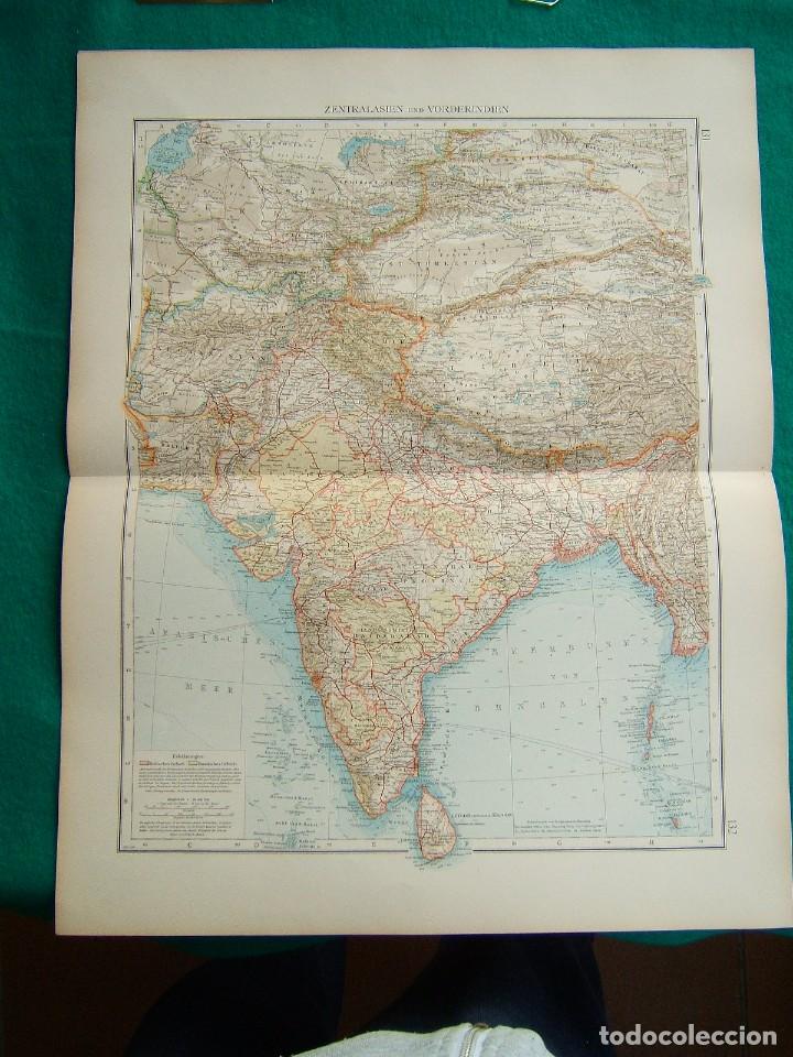 MAPA DE ASIA-INDIA-CEILAN-BIRMANIA-AFGHANISTAN-TIBET-HIMALYA-BHUTAN-PERSIA-GOLFO PERSICO-1899. (Arte - Cartografía Antigua (hasta S. XIX))