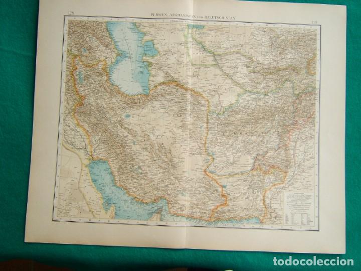 Arte: MAPA DE ASIA-INDIA-CEILAN-BIRMANIA-AFGHANISTAN-TIBET-HIMALYA-BHUTAN-PERSIA-GOLFO PERSICO-1899. - Foto 2 - 185897160