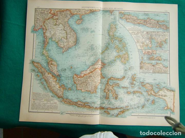 MAPA DEL ARCHIPIELAGO MALAYO-CHINA-VIETNAN-FILIPINAS-BORNEO-NUEVA GUINEA-MAPA JAPON-COREA-1899. (Arte - Cartografía Antigua (hasta S. XIX))