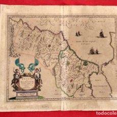 Arte: FESSAE ET MAROCCHI REGNA AFRICA CELEBERRIMA, DESCRIBEBAT ABRAH ORTELIUS, 1595. FEZ MARRUECOS. Lote 185909510