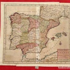 Arte: NIEWE KAART VAN SPANJE EN PORTUGAL TE AMSTERDAM BY ISAAK TIRION. S. XVIII (ESPAÑA Y PORTUGAL). Lote 185913832