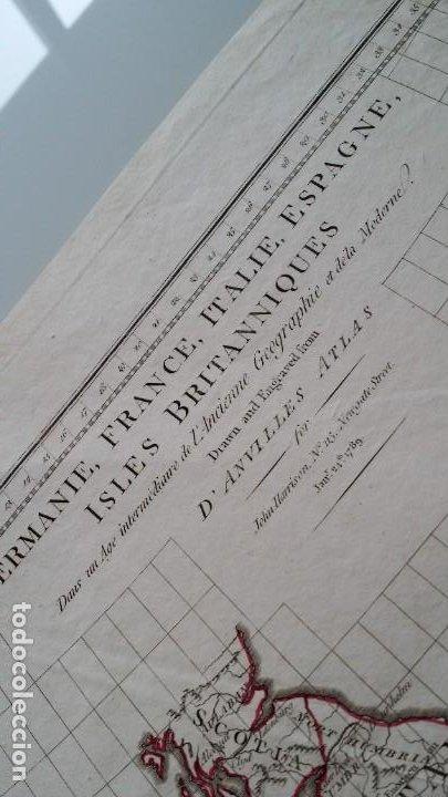 Arte: Mapas, ESPAÑA, BRITANIA, GERMANIA... D Anville, París, 1789 - Foto 5 - 185964247