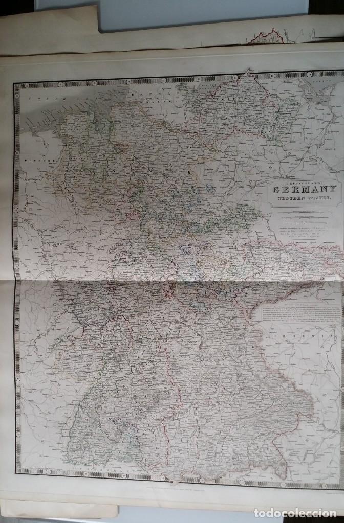 Arte: Mapas, ESPAÑA, BRITANIA, GERMANIA... D Anville, París, 1789 - Foto 19 - 185964247