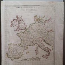 Arte: MAPAS, ESPAÑA, BRITANIA, GERMANIA... D ANVILLE, PARÍS, 1789 . Lote 185964247