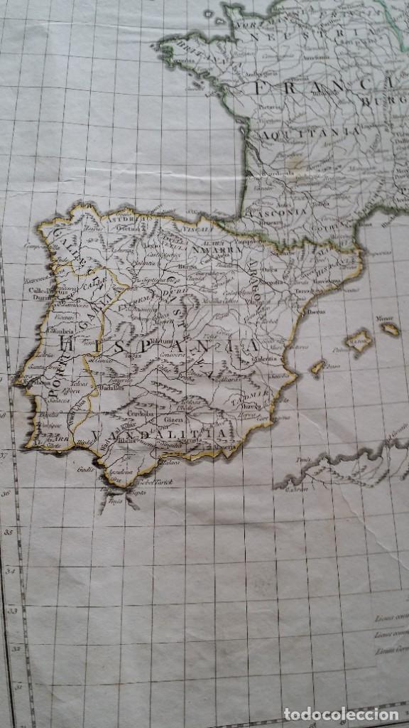 Arte: Mapas, ESPAÑA, BRITANIA, GERMANIA... D Anville, París, 1789 - Foto 3 - 185964247