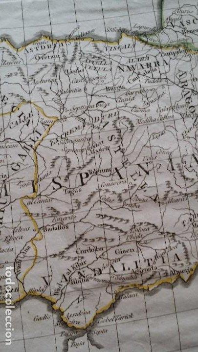 Arte: Mapas, ESPAÑA, BRITANIA, GERMANIA... D Anville, París, 1789 - Foto 4 - 185964247