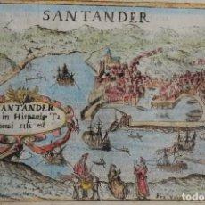 Arte: SANTANDER, GRABADO POR VALEGIO /LASOR A VAREA, 1713, SANTANDER. Lote 185969385
